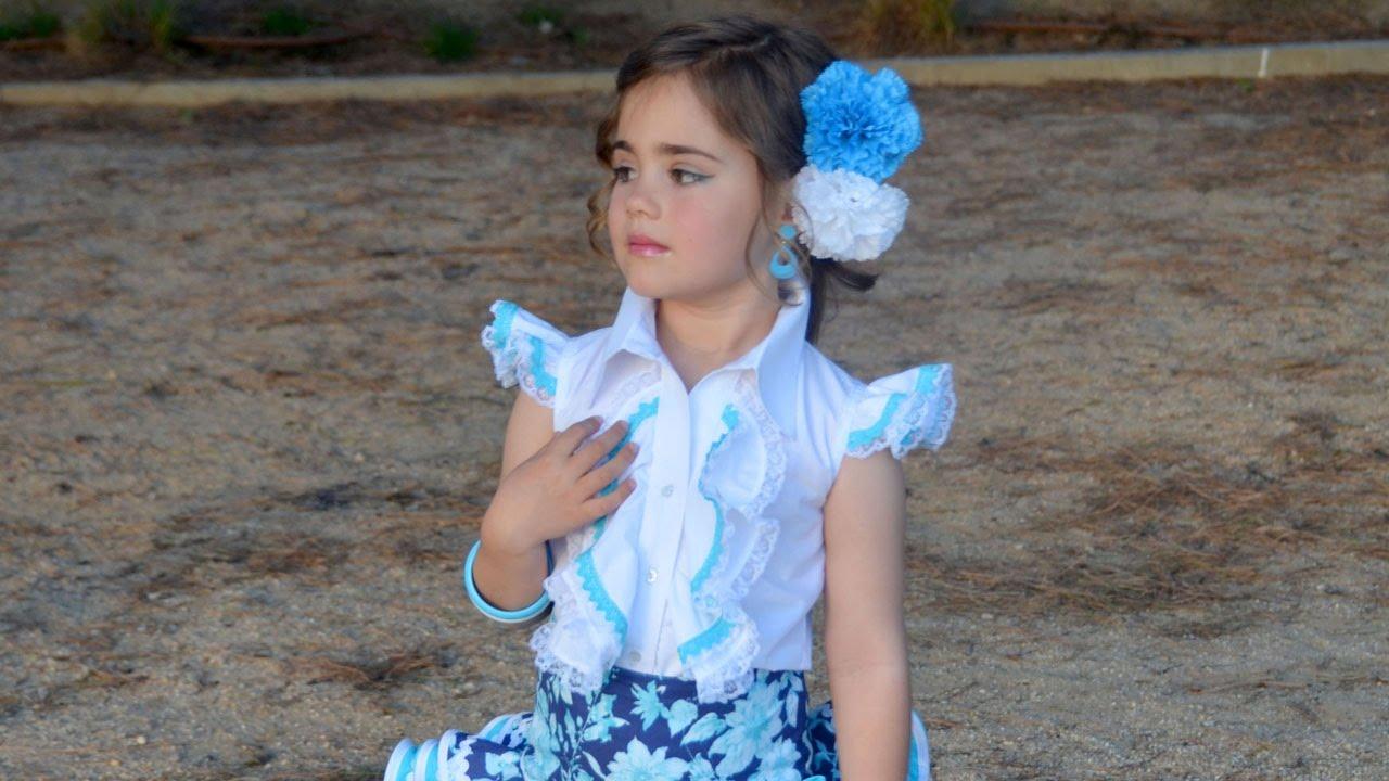 Blusa flamenca. Patrones de niña. - YouTube 76df3118bdd