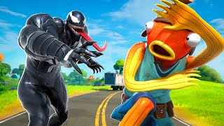 VENOM VOICE TROLLING ON FORTNITE!