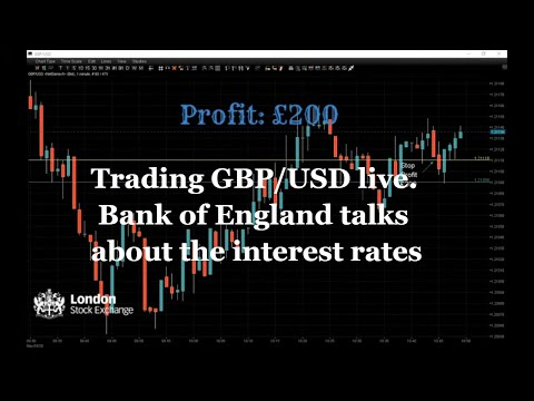 Trading GBP/USD. Bank Of England Talks About The Interest Rates. Copy Live From The Trading Session.