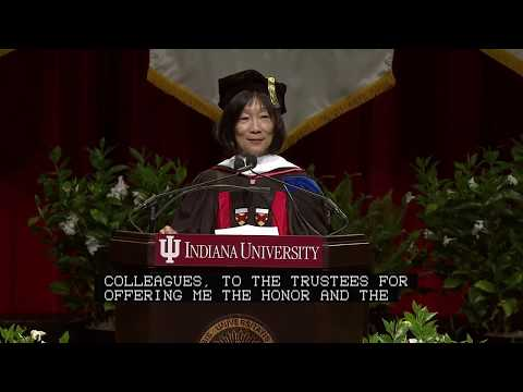 2017 IU Commencement graduate ceremony guest speaker Pauline Yu