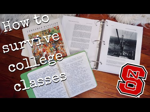 HOW TO SURVIVE COLLEGE CLASSES