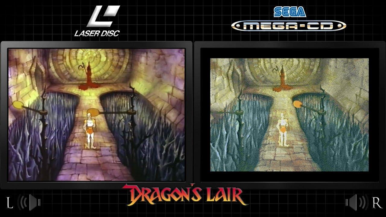 Dragon's Lair | Sega CD & Arcade Laserdisc - Comparison