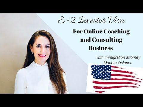 E2 Investor Visa | ONLINE COACHES  ✔️🇺🇸