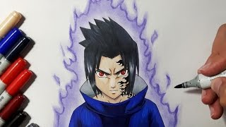 How To Draw Sasuke Uchiha - Step by Step