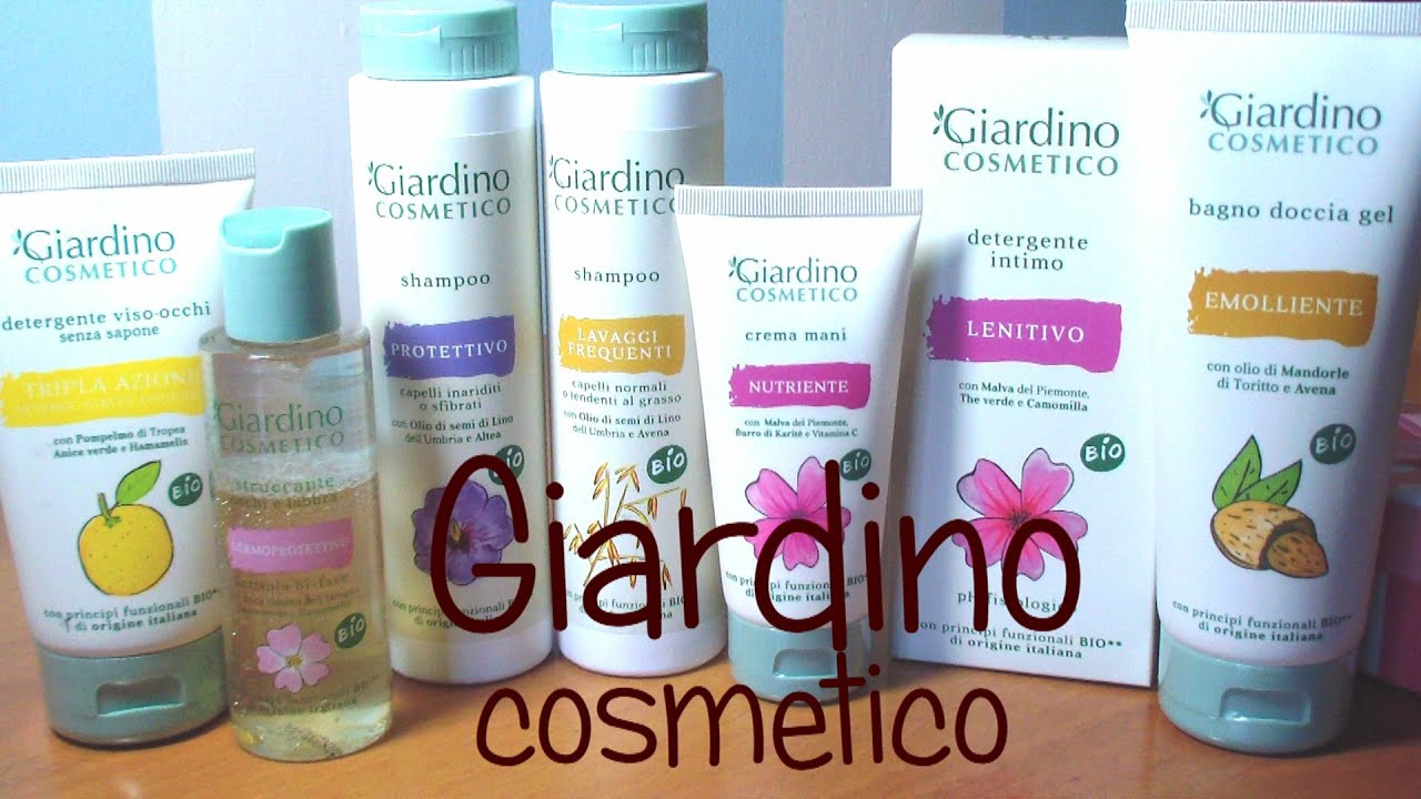 prodotti bio giardino cosmetico kissgibellina72 youtube