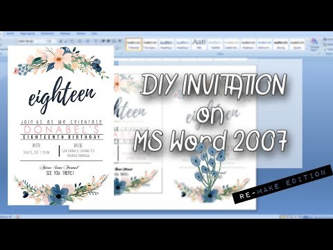 diy-invitation-on-ms-word-2007││re-creating