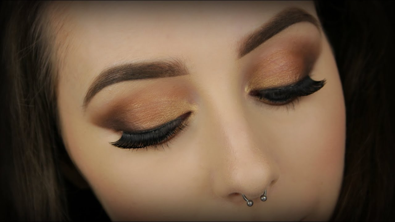 Autumn Appropriate Copper Smokey Eyes Brown Lips Youtube Nyx Smacking Fun Color Lss