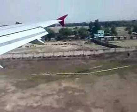 Landing at Varanasi Airport