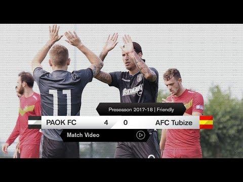 ΠΑΟΚ-AFC Tubize 4-0 - PAOK TV
