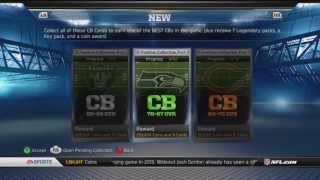 Madden 13 Ultimate Team | 3 Cornerback Collection | No Winfield Key Card!