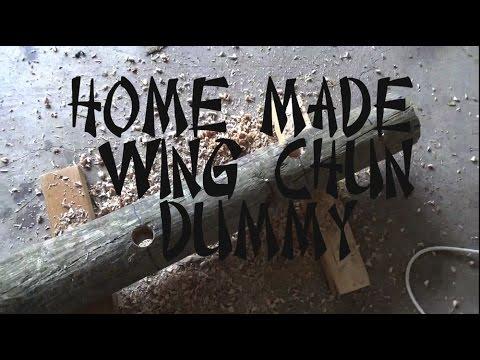 Homemade Wing Chun - Mook Jong Dummy