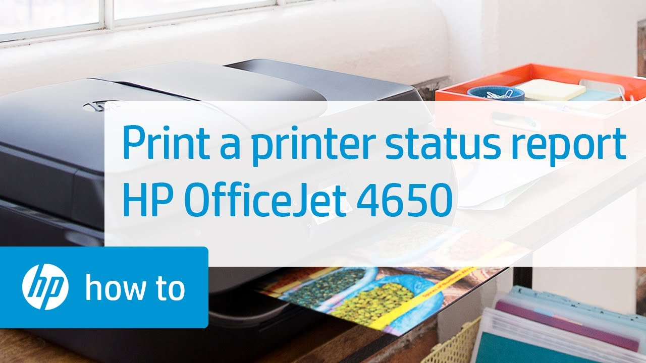 Printing A Printer Status Report On The Hp Officejet 4650