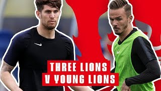 Three Lions vs Young Lions Training Game | Inside Training