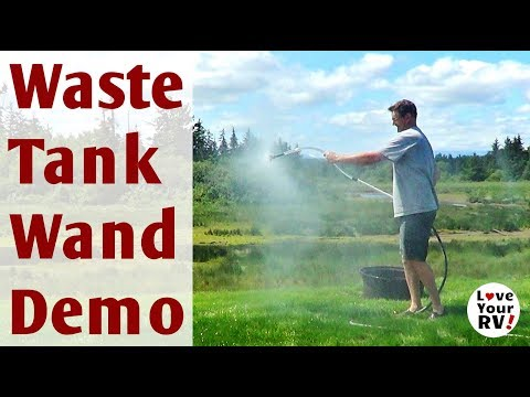 Flexible RV Waste Tank Cleaning Wand Demo