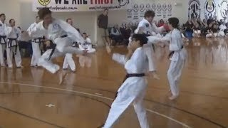 March 2018 Black Belt exam - Junior and Senior Free Sparring