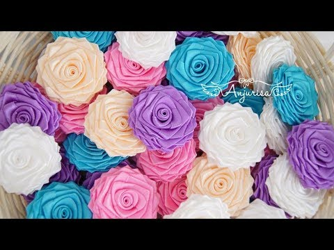 How To Make Beautiful Ribbon Flowers (Closer Look)