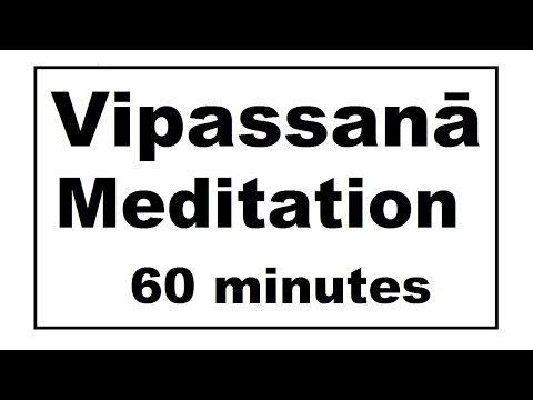 Vipassanā Meditation: a daily meditation timer. 60 minutes. Bell every 5. (Meditation videos series)