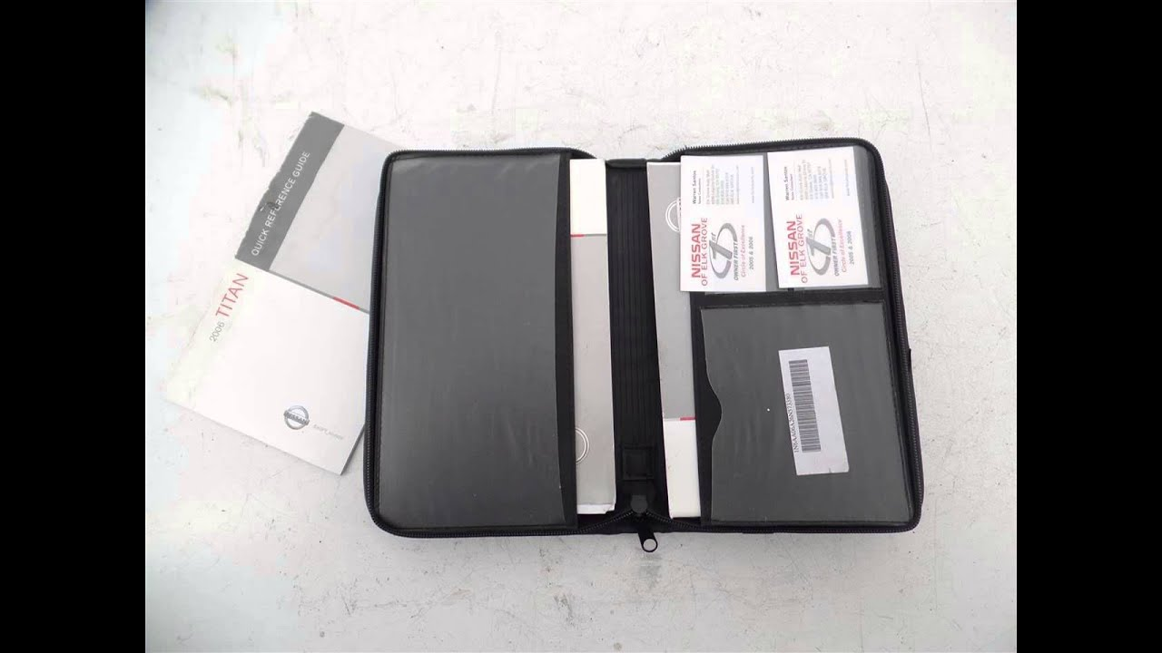 2006 nissan titan 2006 titan owners manual w case suvtruckparts rh youtube com 2008 Nissan Titan 2005 Nissan Titan