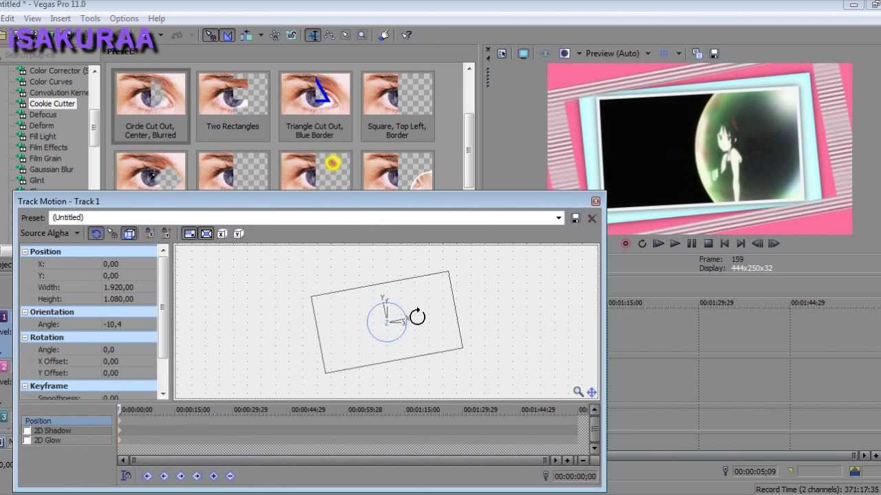「Sony Vegas」Kawaii (cute) Frame Tutorial ★ HD ★