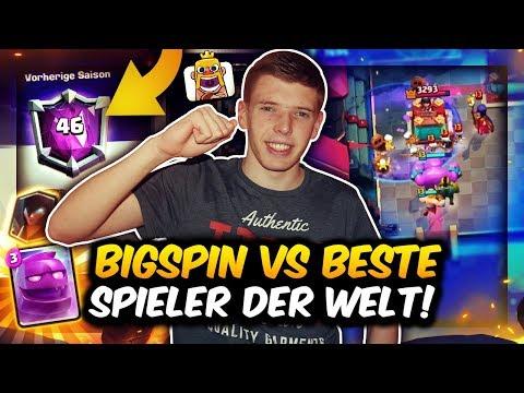 BIGSPIN vs. BESTE SPIELER DER WELT! | PLATZ 49 GLOBAL AM SEASON END! | Clash Royale Deutsch