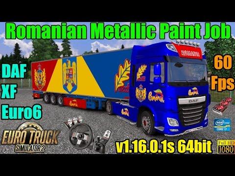 ETS 2 - DAF XF Romania Metallic Paint Job