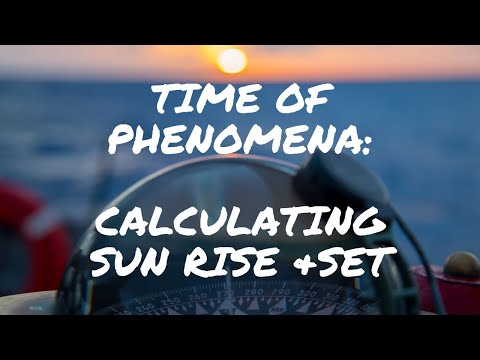 Basic Time of Phenomenon (Sunrise and Sunset)