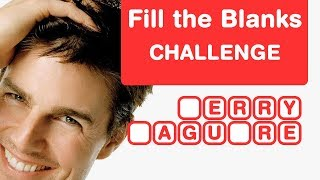 Guess Tom Cruise Movies - Fill in the Blanks - Hollywood Brain Teaser