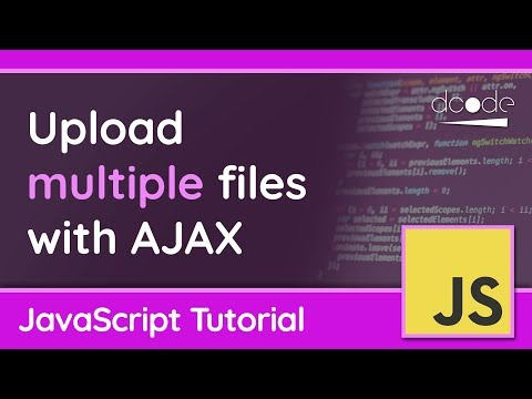 Upload multiple files with AJAX/XMLHttpRequest