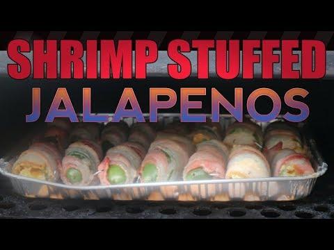 Shrimp dip stuffed jalapeno poppers
