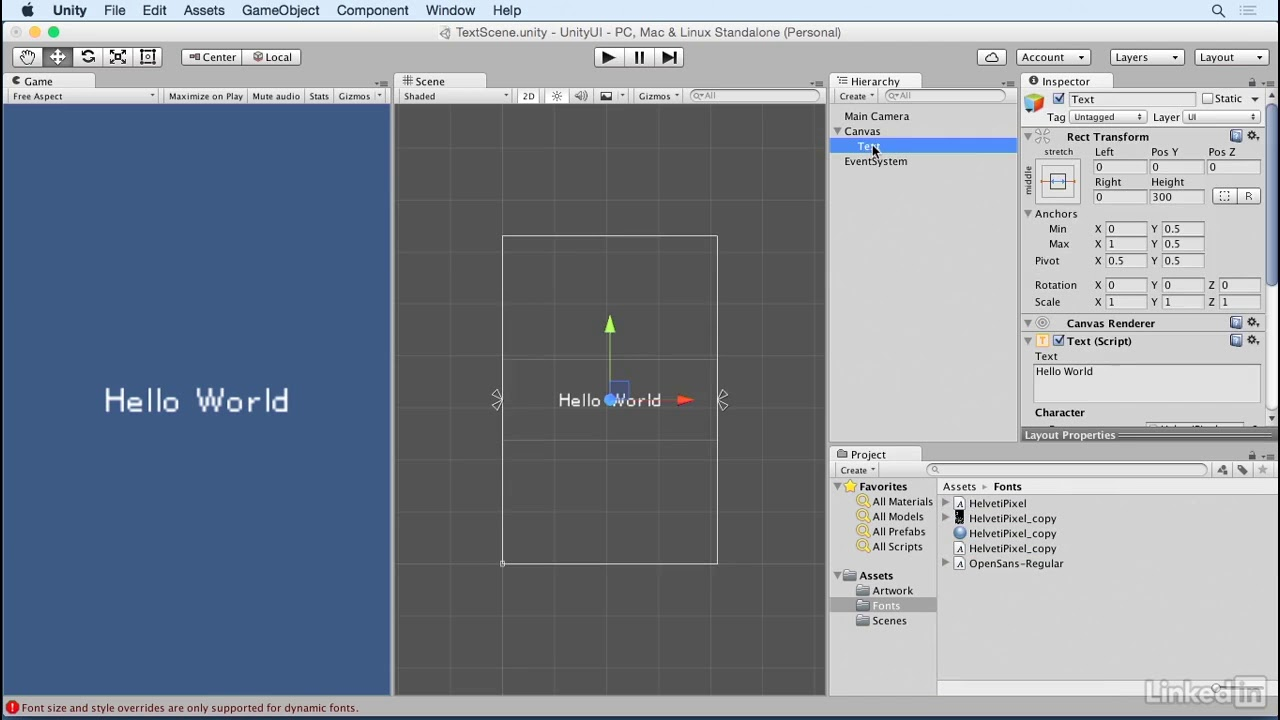 Unity 5: UI - 3 5 Creating font textures