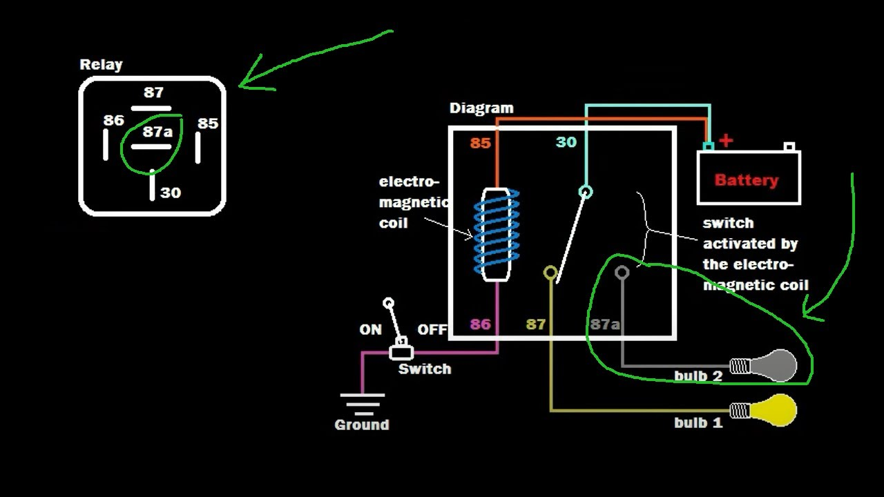 Relay Tutorial: 5 pin vs 4 pin wiring (Example 1) on