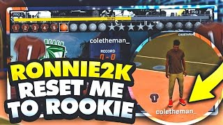 ronnie 2k unbanned me reset my rep to rookie 99 overall shot creator demigod in nba 2k17