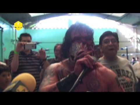 Wotan reta máscara vs cabellera al Caifán en Innova Aztec Power