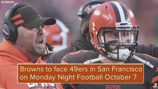 Cleveland Browns to face San Francisco 49ers on Monday Night Football Oct. 7