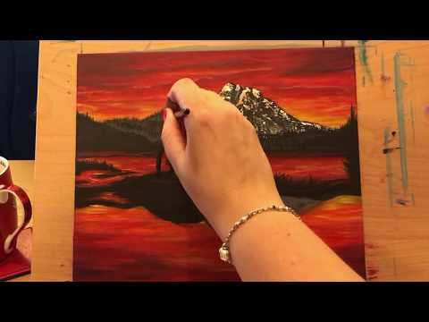 60 - Epoxy Resin & Acrylic Art - Red Sky Tranquillity - Relax & watch the view