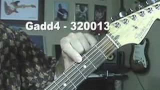 Guitar  Chord Gadd4 Videos