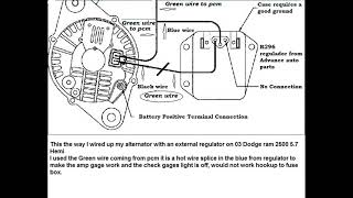 03 dodge ram 2500 5.7 hemi, external regulator wiring diagram - youtube  youtube