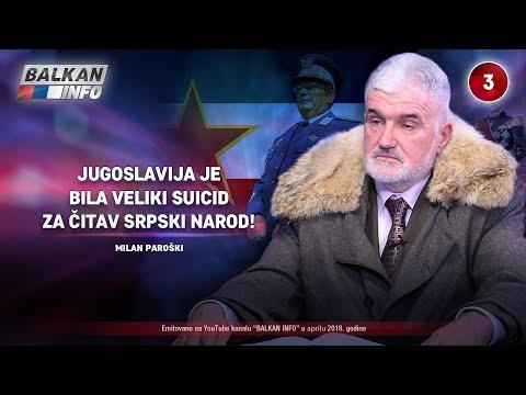 INTERVJU: Milan Paroški - Jugoslavija je bila veliki suicid za čitav srpski narod! (05.04.2018)
