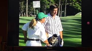 1996 Masters With Nick Faldo Hitting 2nd Shot On 13th Hole