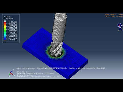 #abaqus tutorials : drilling operation