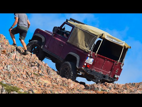 3 Land Rover Defenders Soft Top on Corsica Mountains - oct19 - short version