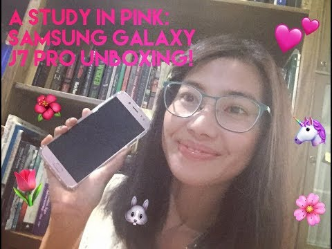 🌸 A Study in Pink: Ms. Bleu Belle Unboxing Pink Samsung Galaxy J7 Pro (2017) 🌷