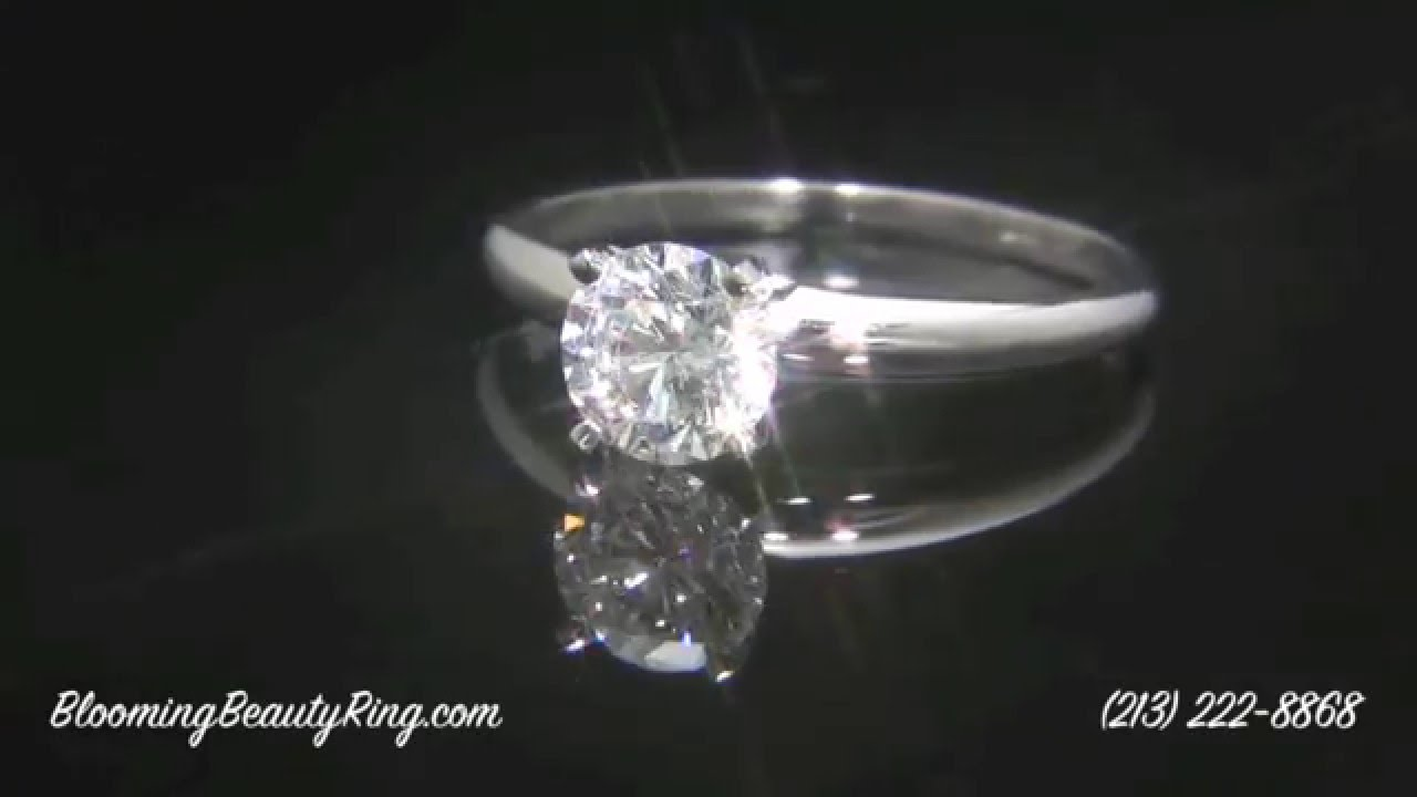 solitaire engagement round topic rings prong