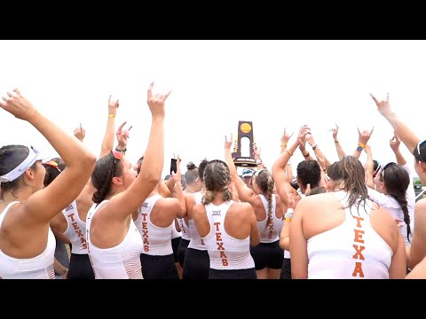 The Moment Texas Rowing Winning NCAA Championships Crossing Finish Line and Celebration After