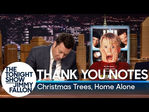 Thank You Notes: Christmas Trees Home Alone
