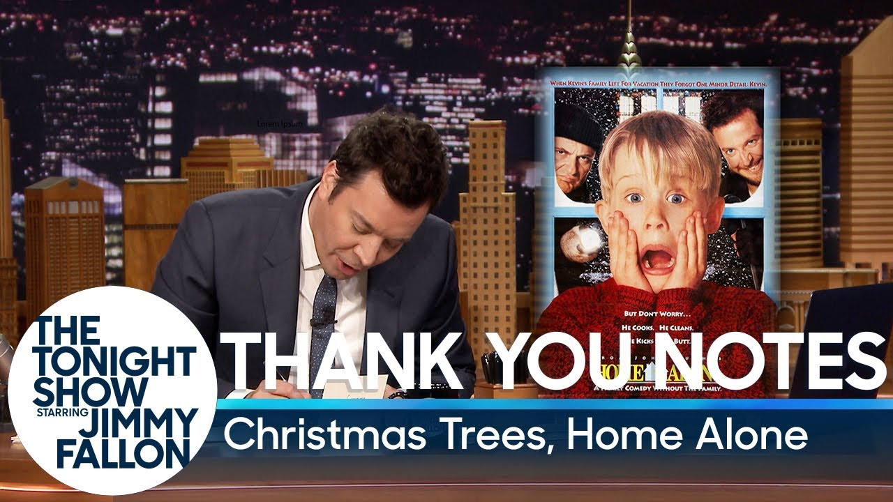 Thank You Notes: Christmas Trees, Home Alone