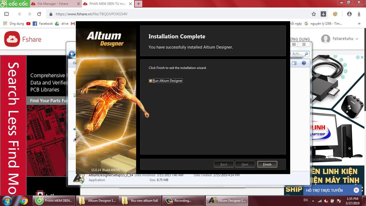 Hướng dẫn cài đặt và cr@ck full phần mềm Vẽ mạch Altium