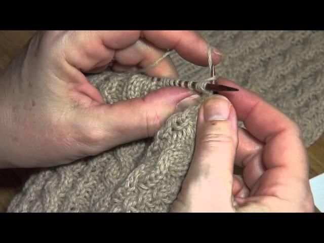 Strikk fletter uten hjelpepinne