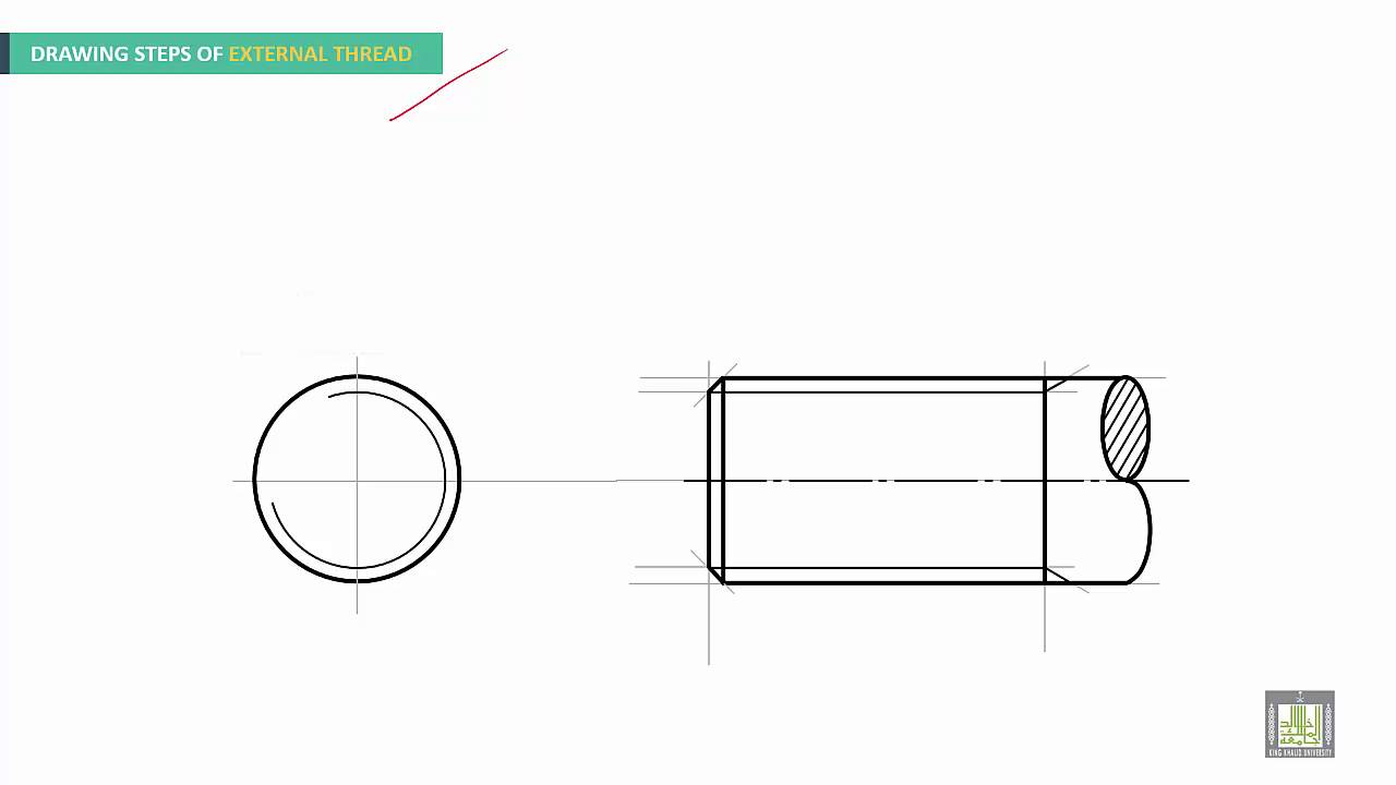 Engineering Drawing 2 Ch3 Thread And Dimensioning Youtube Threading Diagram