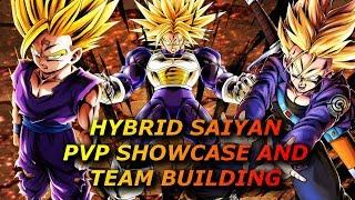 HYBRID SAIYAN PVP SHOWCASE AND TEAM BUILDING! DRAGON BALL LEGENDS